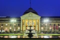Kurhausen av Wiesbaden i Tyskland Royaltyfria Foton