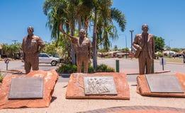 Kuri Bay Pearl Industry-gedenkteken, Broome Australië stock afbeeldingen