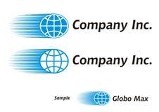 kurier globalnej logo turystyki Zdjęcia Stock