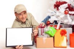 Kurierdienst in 24h, sogar auf Weihnachten! Lizenzfreie Stockfotos