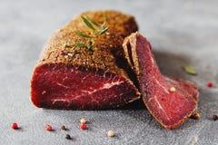Kuriertes Rindfleisch Lizenzfreie Stockbilder