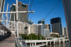 Kurilpa bridge in Brisbane Royalty Free Stock Photography