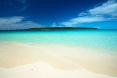 KURIMA Island from MAEHAMA Beach Stock Photo