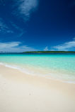 KURIMA Island from MAEHAMA Beach Stock Images
