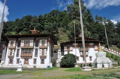 Kurjey Lhakhang: Świątynia odciski Obrazy Stock