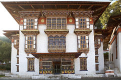 Kurjey Lhakhang, Bhutan Royaltyfria Bilder