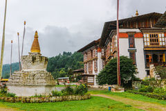 Kurjey Lhakhang: The Temple of Imprints in  Bumthang valley, Bhutan. Royalty Free Stock Photo