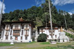 Kurjey Lhakhang: The Temple of Imprints. In Bumthang valley, Bhutan Stock Images