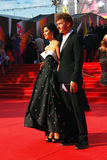 Kurkova and Bachurin at Moscow Film Festival Stock Images