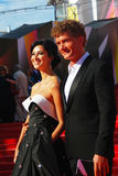 Kurkova and Bachurin at Moscow Film Festival Stock Image