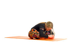 Kurmasana, a position in Yoga, is also called  tortoise Stock Photography
