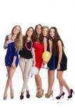 Kurnego przyjęcia młodych dziewczyn świętować Zdjęcia Royalty Free