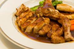Kuro Buta (Black pork) pork chop steak on Japanese cuisine Royalty Free Stock Photography