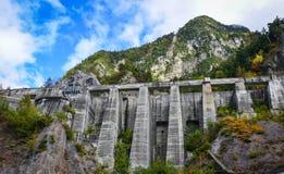 Kurobe水坝在富山县,日本 库存图片
