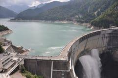 Kurobe水坝富山 免版税库存图片