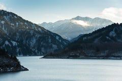 Kurobe水坝,日本 免版税库存照片