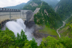 Kurobe dam in Toyama, Japan Stock Images