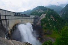 Kurobe dam in Toyama, Japan Stock Photo