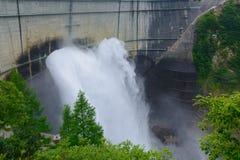 Kurobe dam in Toyama, Japan Stock Photography