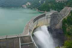 Kurobe dam in Toyama, Japan Royalty Free Stock Photography