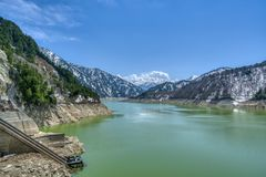 Kurobe Lake, Tayoma Prefecture, Japan royalty free stock images