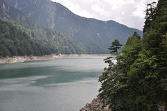 Kurobe rzeka Obrazy Royalty Free