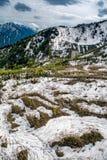 Kurobe-Schneegebirgszug Stockfotografie