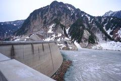 Kurobe-Verdammung, Japan lizenzfreies stockbild