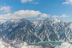 Kurobe-Verdammung, Tetayama, Japan Stockbild