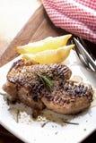 Kurobuta pork steak Stock Photos