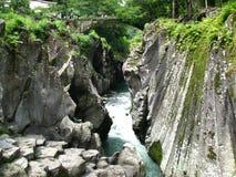 Kurokawa, Japan. Black River in Kyushu, Japan Stock Photography