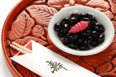 Kuromame, japanese food Stock Image
