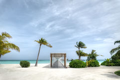 Kurort na wyspie przy Maldives Zdjęcia Royalty Free