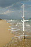 Kurort plaża z sezonu Fotografia Royalty Free