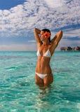 kurort plażowa egzotyczna kobieta Fotografia Stock