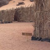Kurort w Ubari pustyni Fotografia Stock
