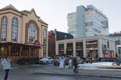 Kurortny Blvd in the resort city of Kislovodsk (Russia) Stock Images