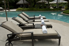 Kurortu luksusowy Basen Fotografia Royalty Free