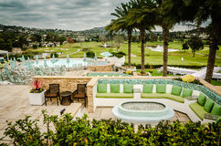 Kurortu patio - Karlsbadzki, CA Fotografia Royalty Free