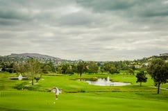 Kurortu pole golfowe - Karlsbadzki, CA Obrazy Stock