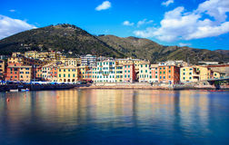Kurorty na wodzie w Nervi, Włochy Zdjęcie Royalty Free