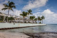 Kurorty przy południe plażą w Key West, Floryda fotografia stock