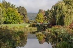 Kurpark em Pyrmont mau, Alemanha Imagens de Stock Royalty Free