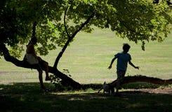 Kurpark Familien-Spaß stockbild
