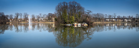 Kurpark Panorama Bad Nauheim Stock Image