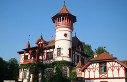 Kurparkschlösschen. Small treatment castle in hersching,near munich in germany Stock Photography