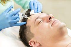 Kurs av den mesotherapy kliniken Fotografering för Bildbyråer