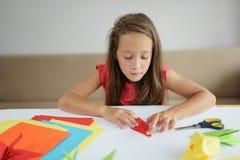 Kurs av origami Arkivfoton