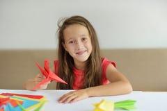 Kurs av origami Arkivfoto