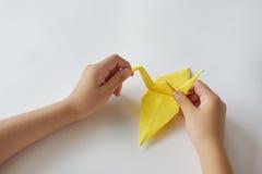 Kurs av origami royaltyfri fotografi